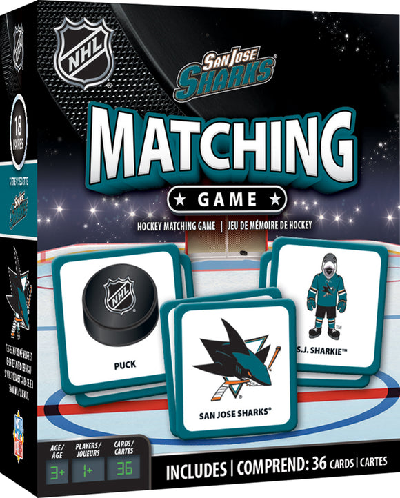 SAN JOSE SHARKS MATCHING GAME