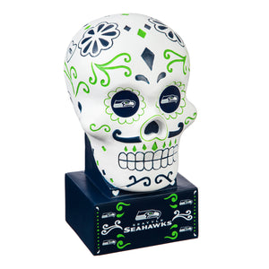 SEATTLE SEAHAWKS SUGAR SKULL HEAD