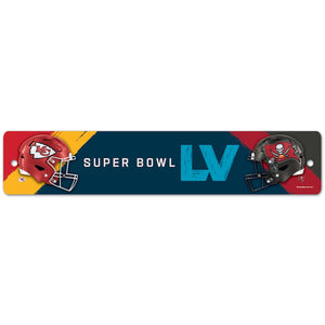 "SUPER BOWL LV DUELING 3.75""X19"" STREET SIGN"