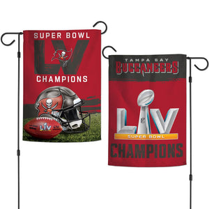 TAMPA BAY BUCCANEERS SUPER BOWL LV CHAMPS GARDEN FLAG