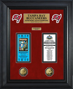 TAMPA BAY BUCCANEERS SUPER BOWL CHAMPIONS DELUXE GOLD COIN TICKET COLLECTION