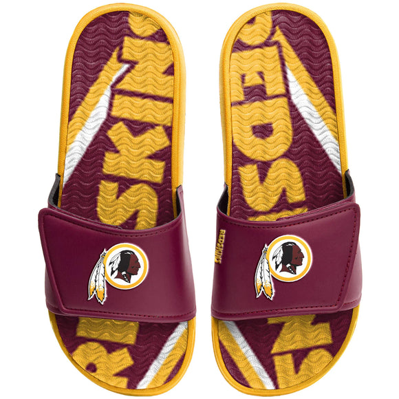 WASHINGTON REDSKINS MEN'S GEL SLIDES