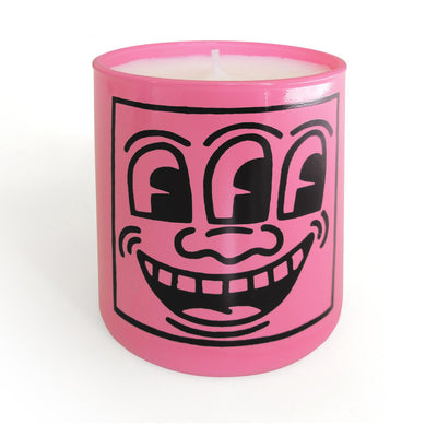 Keith Haring Pink Mask Lily of the Valley Candle