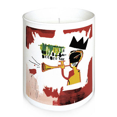 "Basquiat ""Trumpet"" Almond-Cherry Candle"