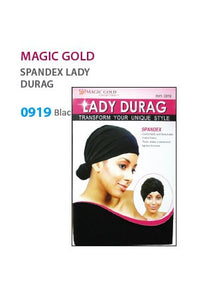 Magic Gold Lady Durag Spendex