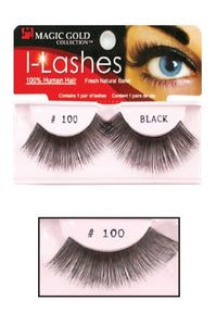 I-Lashes 100% Human Hair Eyelashes #100 Black