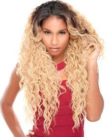 Front Lace Wig Edge 2-Way L-Part Nia, Lace Front Wig