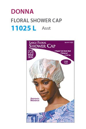 Donna Large Floral Shower Cap