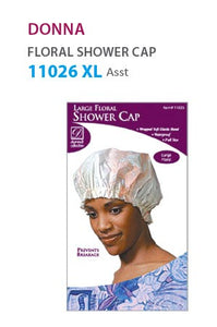 Donna XL Floral Shower Cap