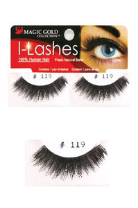 I-Lashes 100% Human Hair Eyelashes #119 Black