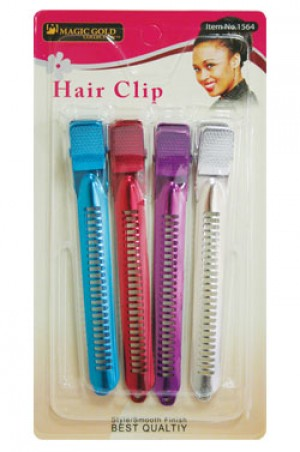 Magic Gold 4pc Aluminum Hair Clips