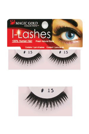 I-Lashes 100% Human Hair Eyelashes  #15 Black