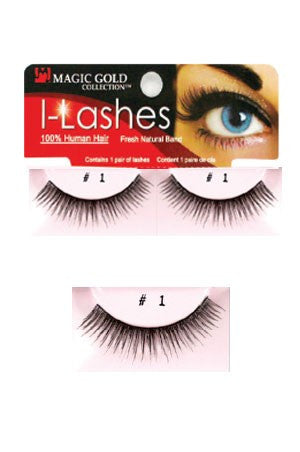 I-Lashes 100% Human Hair Eyelashes #1 Black