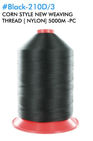 Corn Style WeavingThread 210D/3 [Nylon] 5000M # Black