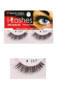 I-Lashes 100% Human Hair Eyelashes  #217 Black