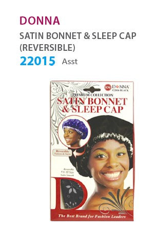Donna Satin Bonnet & Sleep Cap Assorted