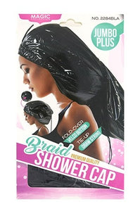 Shower Cap - Braid Jumbo Black