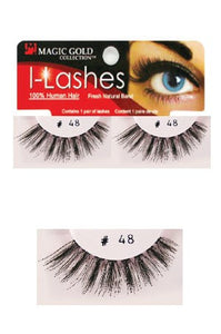 I-Lashes 100% Human Hair Eyelashes  #48 Black