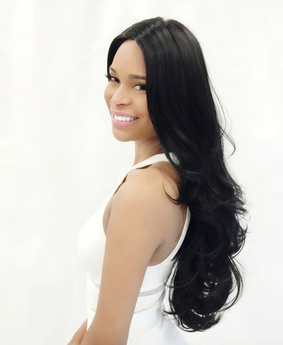4 × 4 Extra Deep Lace Wig Koty, Human Hair Blend Wig