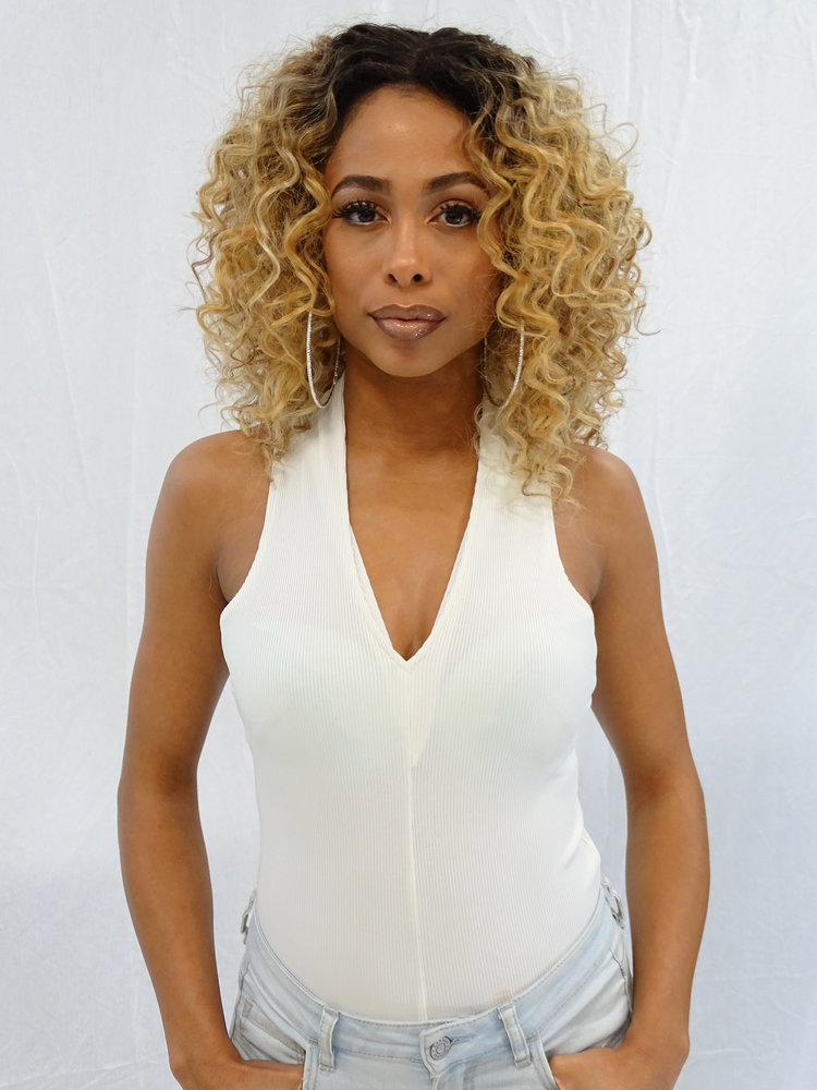 4 × 4 Extra Deep Lace Wig Shantel, Human Hair Blend Wig