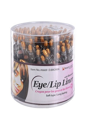 Magic Gold Eye/Lip Liner with Sharpener  Dark Brown