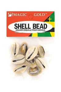 Shell Bead Dark Ivory