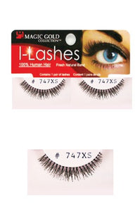 I-Lashes 100% Human Hair Eyelashes #747 Black