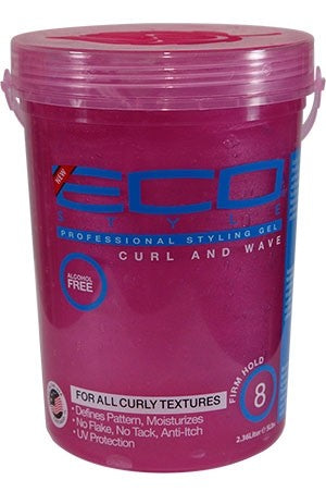 Eco Gel -Pink Curl & wave Styling Gel 5lb