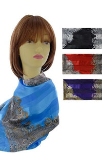 Soft Silky Scarf blue