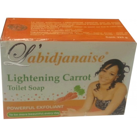 L'abidjanaise Lightening Carrot Soap 225 g