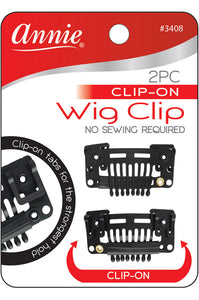 Annie 2 pc Clip On Wig Clip [No Sewing Required]