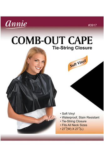 Comb-Out Cape Tie-String Closure