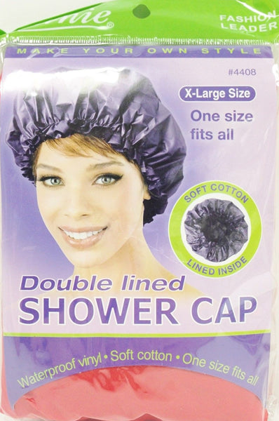 Annie Double Lined Shower Cap Assorted X-Large