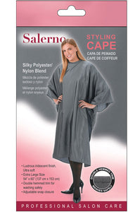 Salerno Styling Cape - Silky Polyester/ Nylon Blend Light Blue