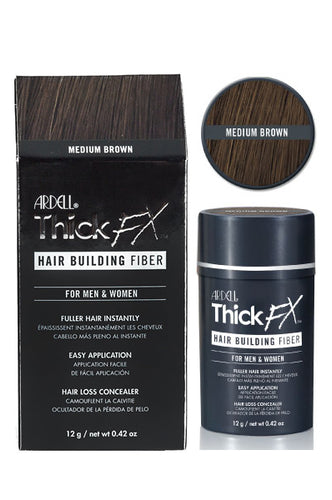 ThickFX Hair Building Fiber - Medium Brown 0.42oz