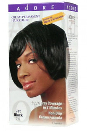 Adore Cream Permanent Hair Color #777 Jet Black