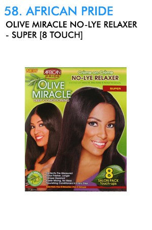 Olive Miracle Deep Conditioning  No-Lye Relaxer 4 Retouch -Super