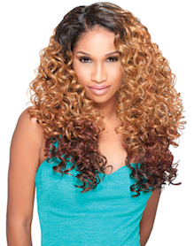 Front Lace Wig Edge 2-Way L-Part Alexis, Synthetic Hair Wig