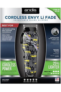 Andis Cordless Envy Li Fade Blade Clipper Trimmer
