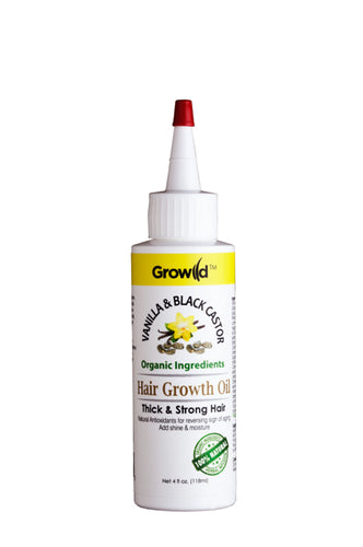 Growild Hair Growth Oil Vanilla & Black Castor 4oz
