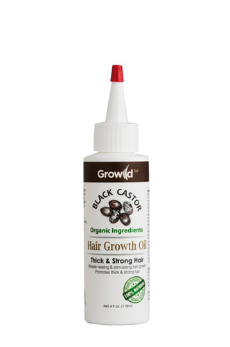 Growild Hair Growth Oil Black Castor 4oz