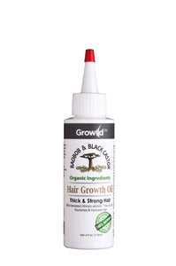Growild Hair Growth Oil Baobob & Black Castor 4oz