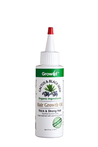 Growild Hair Growth Oil Cactus & Black Seed 4oz