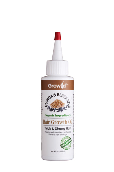 Growild Hair Growth Oil Quinoa & Black Seed 4oz