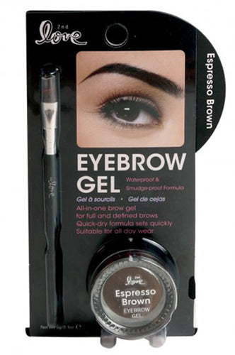 2nd Love Eyebrow Gel - Espresso Brown 0.1oz