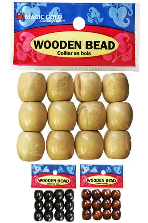 Magic Gold Wooden Bead Large