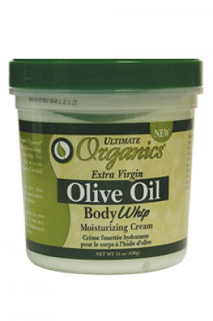 Ultimate Organics Olive Oil Body Whip Moist. Cream 15oz