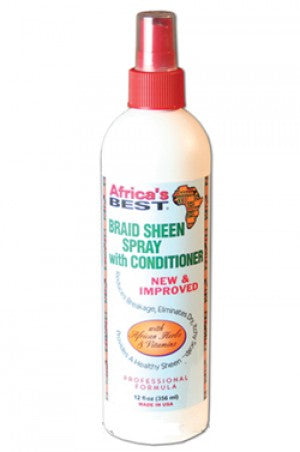 Africas Best Braid Sheen Spray with Conditioner 12oz