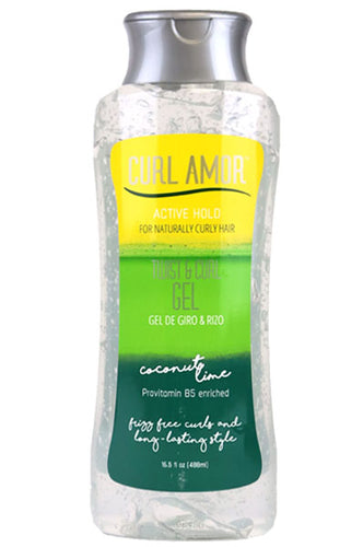 CURL AMOR Coconut lime Twist and Curl gel #active hold 16.5oz