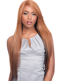 Front Lace Wig Edge 2-Way L-Part Candice, Synthetic Hair Wig